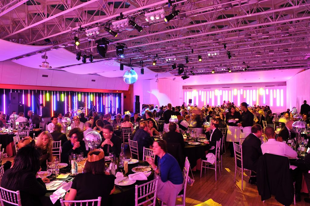 A London banqueting venue hosting guests for an event