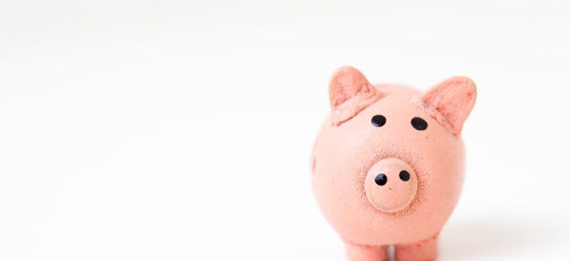 a pink piggy bank