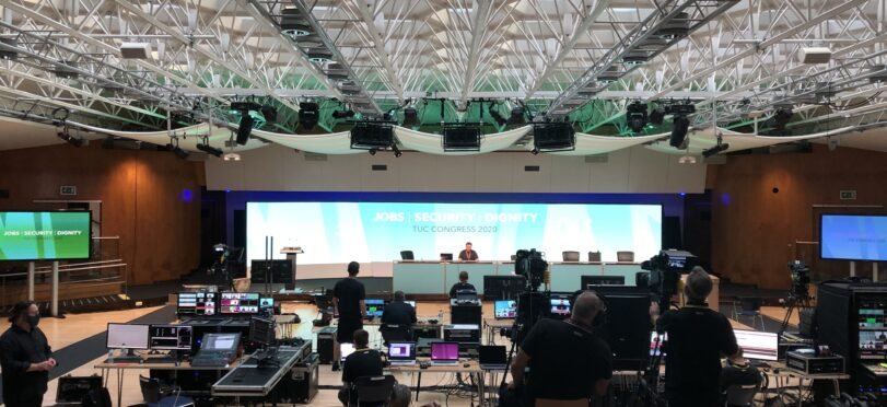 A hybrid event at Congress Centre, the TUC's 152nd annual Congress