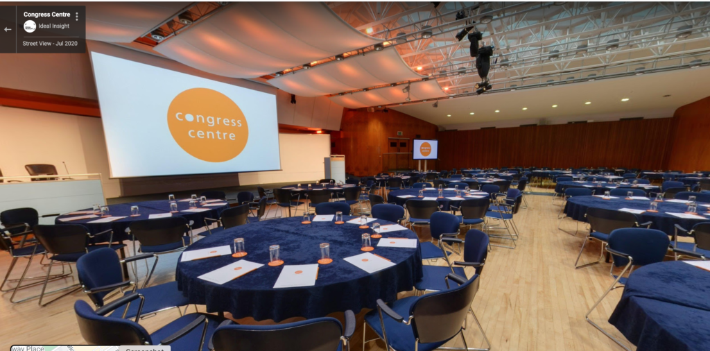 Virtual tour view of conference space in central London, Congress Centre