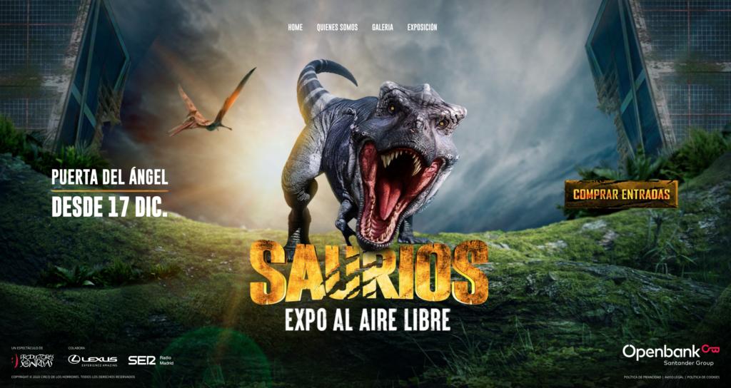 Poster for Saurios Madrid - Dinosaur Exhibition