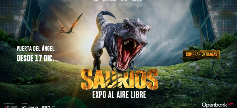 Poster for Saurios Madrid - Dinosaur Exhibition