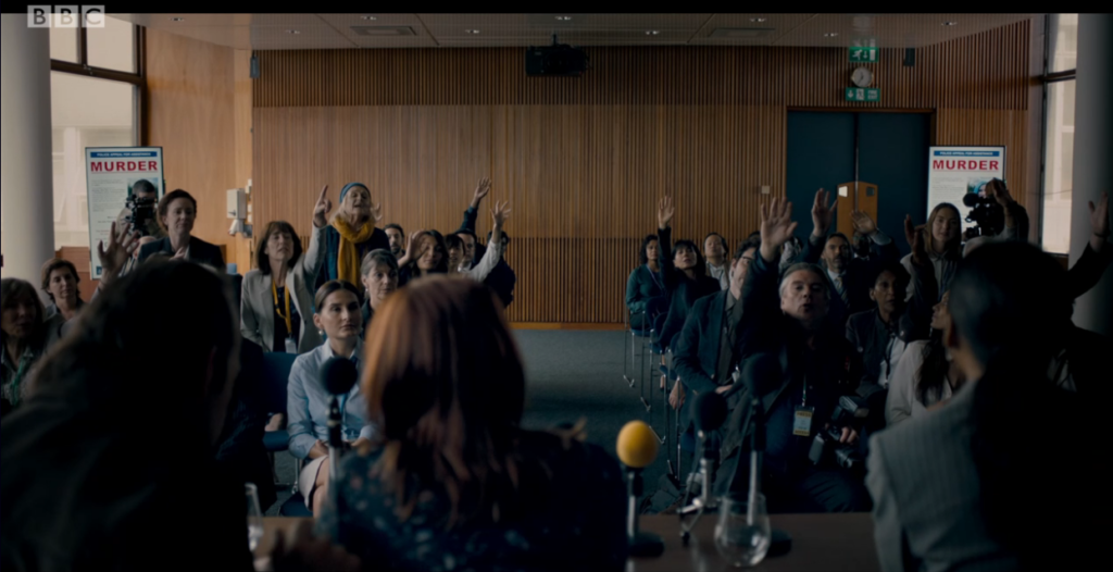 BBCs MotherFatherSon scene filmed at London filming location Congress Centre