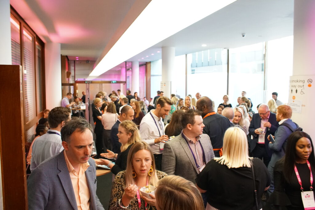 delegates networking at an event in a London conference centre, Congress Centre